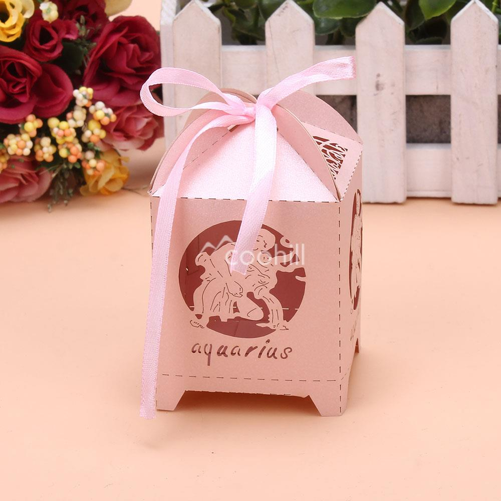 50PCS/Lot Laser Cut Aquarius Wedding Favors Candy Boxes Baby Shower ...