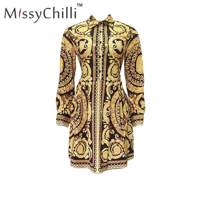 Paisley Gold Party Dress...