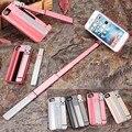 Selfie stick y cajas del teléfono 2 en 1 para iphone 7 plus cubierta con zoom monopie inalámbrico para iphone 6 s plus nuevo autodino caso