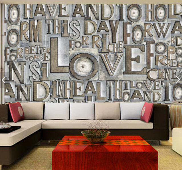 Custom 3d Stereoscopic Wallpaper The English Word For The Living