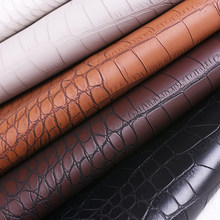 100*138CM Crocodile PVC Faux Leather Fabric for Shoes Bag Luggage DIY Accessories Craft 0.8mm Faux Synthetic Leather DIY00030(China)