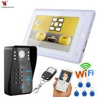 Yobangsecurity видео Домофон 7 дюймов Мониторы Wi Fi Беспроводной видео телефон двери Дверные звонки Камера домофон Системы Android IOS APP
