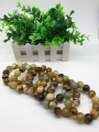 Women Men Nature Jade Bracelets / Natural Stone Mottled Big Beads 18mm Classic style / Storeage Wholesale