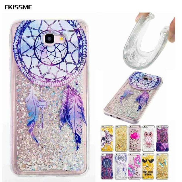 new products 004af f78b8 US $3.65 18% OFF|FKISSME Liquid Glitter Sand Quicksand Star Case for  Samsung Galaxy J7 Prime On7 2016 Cover Flower Owl Soft TPU Case for J7  Prime-in ...