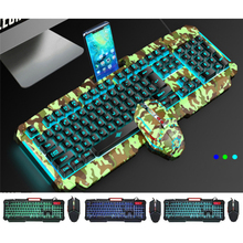 все цены на Mechanical Keyboard RGB Backlit USB Wired Gaming Keyboard Imitation Mechanical Feel 104 Keys Waterproof Computer Game Keyboards онлайн
