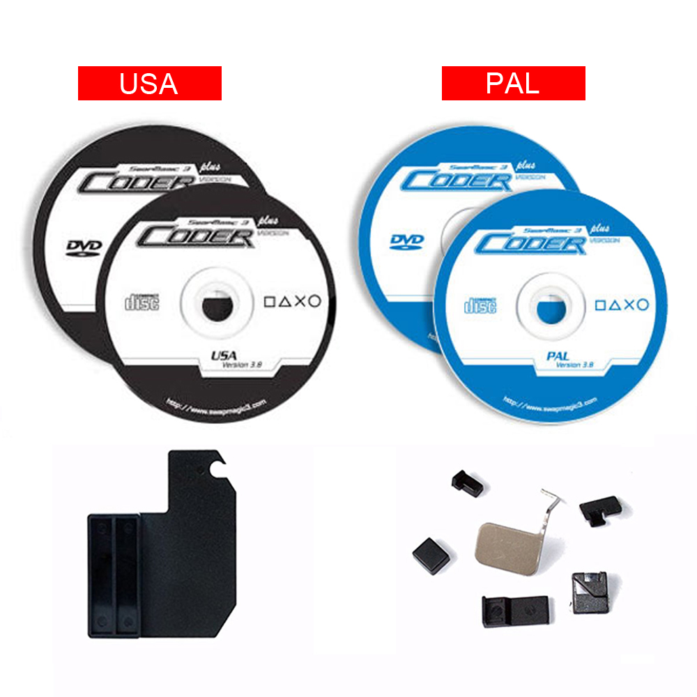 SwapMagic 3 Codeur V3.8 PAL/NTSC CD, DVD, glisser Outils et V4 Pièces Pour PS2