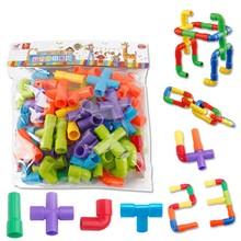 38PCS Kids Pipeline Tunnel Block Model Toy Kids Baby DIY Assembling 3D Water Pipe Building Blocks Educational Toy for Children