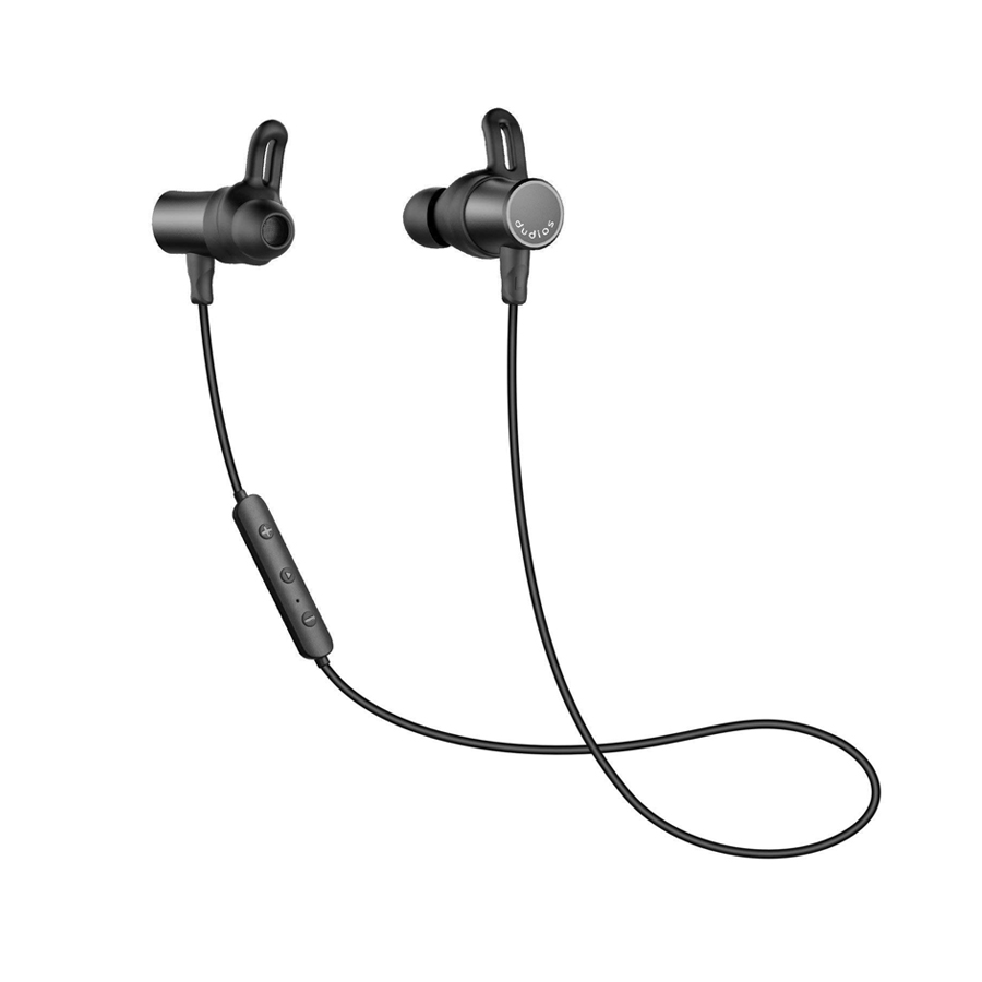 Dudios Bluetooth Earbuds Aptx Stereo IPX7 Sweatproof Sports Wireless Headset Mic Magnetic 8hrs Playtime CVC 6