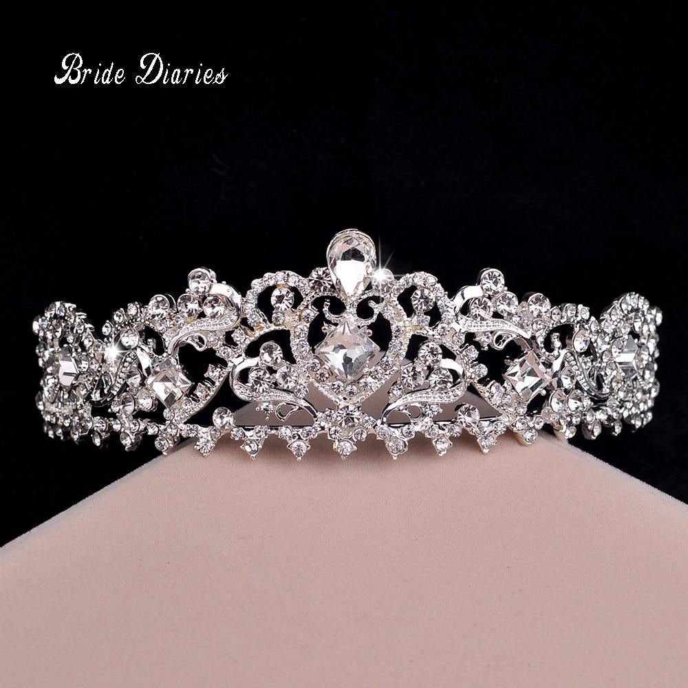 Fashion hair jewelry wedding bridal crown accessories rhinestone sparking women bridal tiara
