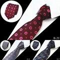 2016 Tendência Da Moda Dos Homens Gravata 100% Seda Tecido Jacquard Laços Para homens 7 cm Homem Gravatas Listradas Gravata do Pescoço Para Festa de Casamento de Negócios