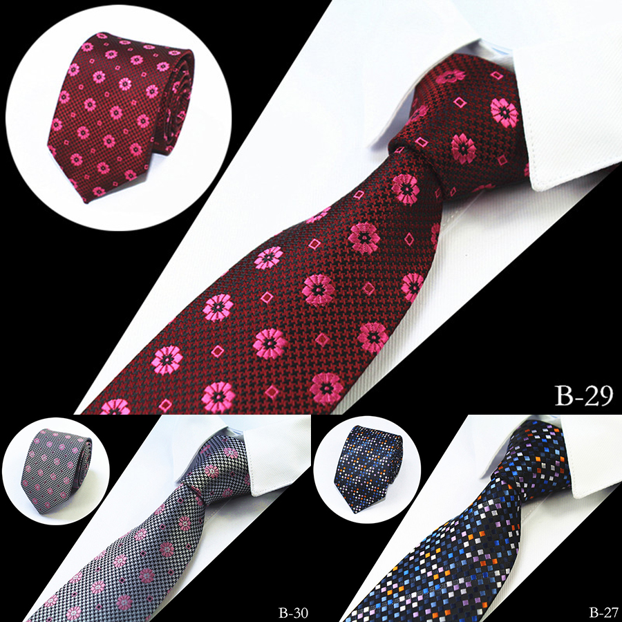 JEMYGINS Mote Menn Tie 100% Silke Jacquard Vevde Slips For Menn 7cm Stripete Slips Menns Slips For Wedding Business Party