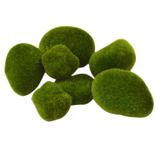 8pcs Micro Landscape Decoration DIY Mini Fairy Garden Green Artificial Moss Fuzzy Stones Grass Plant Poted Home Decor p20