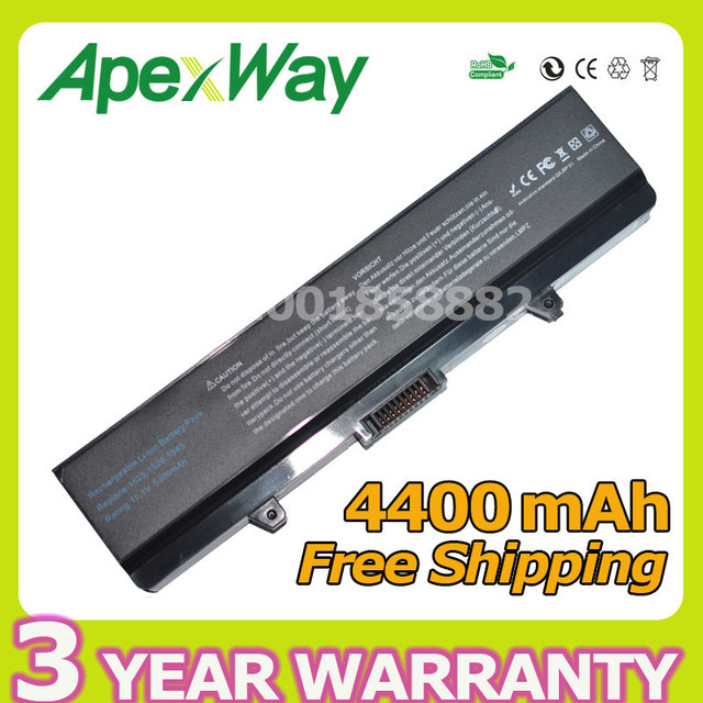 Apexway 4400mAh 11.1v Laptop Battery For DELL Inspiron 1525 1526 1545 for Vostro 500 C601H D608 HGW240 HP297 RN873 X284G XR693