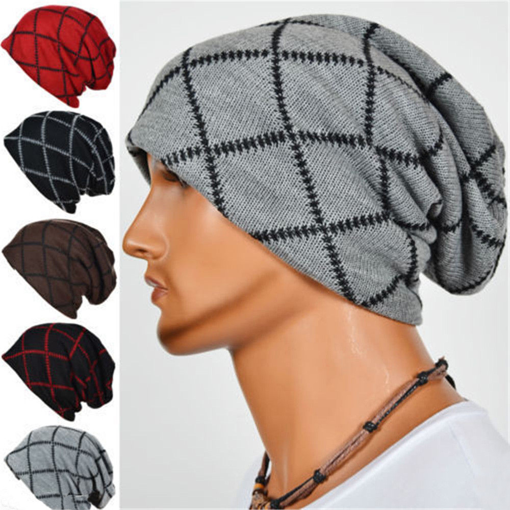 Men Unisex Knit Beanie Ski Hat Baggy Slouchy Winter Skull Hip Hop Cap  Feature: