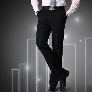 Męskie spodnie Big Size S = 27-40 czarny męski garnitur spodnie Slim Fit spodnie biznesowe marka mężczyzna wiosna 2019 chiny inported ubrania