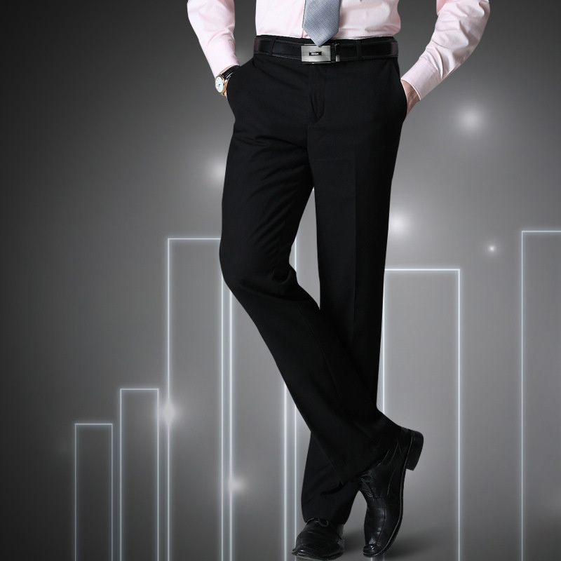 Mens Pants Big Size S=27-40 Black Male Suit Pants Slim Fit Business Trousers Brand Man Spring 2019 China Inported Clothes