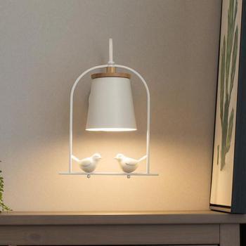 Nordic Glas Schatten treppen wand licht Vogel Käfig Wand Lampe Nacht Led-wand leuchte für Flur Zimmer Loft Veranda ligting