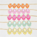 Five Colors Orange/Pink/Rose/Yellow/Green Golden Chain Bib Statement Necklace