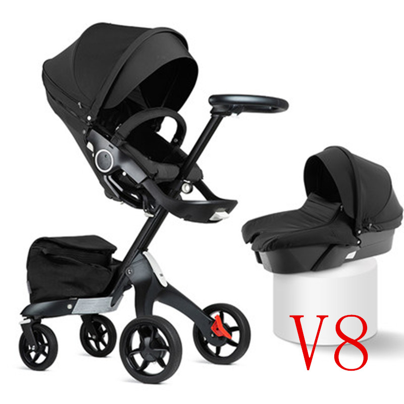 Luxury Baby Stroller High Landscape Portable Baby Carriages Foldle Prams For Newborns luxury baby stroller high landscope portable baby carriages folding prams for newborns travel system 2 in 1