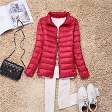 2018 Fashion Women Keep Warm Super Light Thin 90% White Duck Down Jacket/femininity Stand Collar Plus Size XXXL 4XL 5XL 6XL 7XL