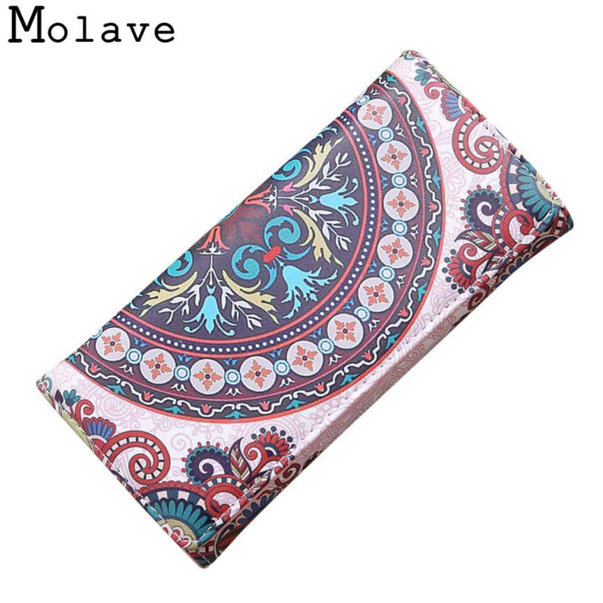 Naivety Long Wallet Ethnic Printing Wallets Female National Flower Prints PU Leather Coin Purse 30S71205 drop shipping naivety drop shipping women cute coin purse pu leather cartoon rabbit printing short wallet animal monedero de la moneda 28s7626