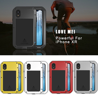 For iphone XR Case Waterproof Cover for iphone XR Aluminum Metal Shockproof Case For iphoneXR Full Protection Cover