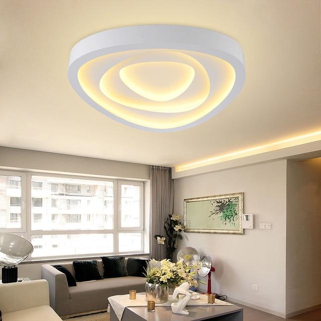 US $122.18 18% OFF|Rose blume moderne decke lichter wohnzimmer lampen  leuchten lampara de techo led schlafzimmer acryl küche licht luminarias in  Rose ...