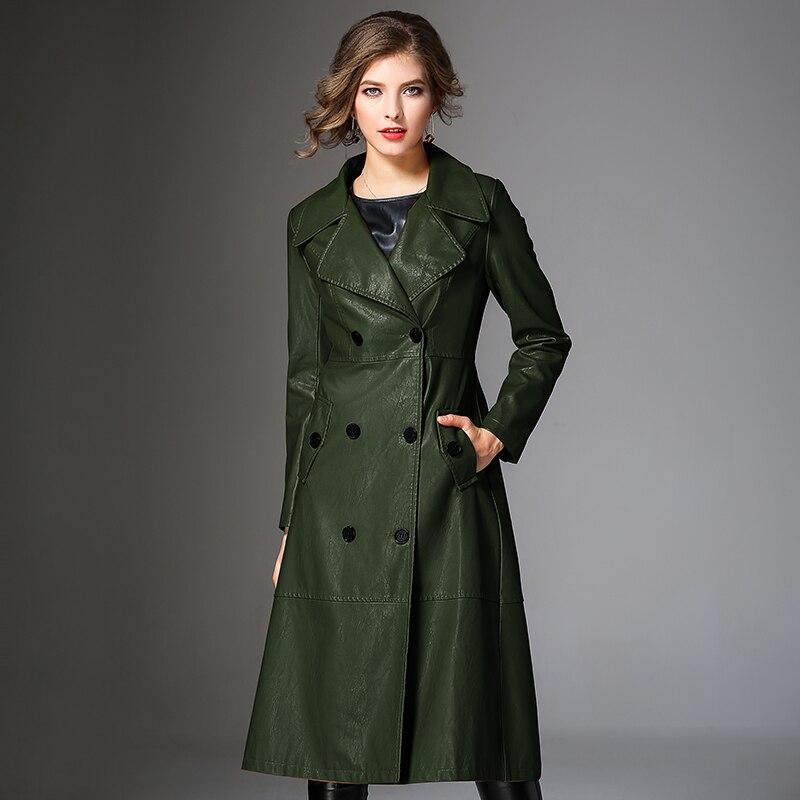 Largo Para Mujeres Casaco Abrigos Invierno De Piel Pu 2019 Cazadora Abrigo verde Negro Feminino K6668 caramel Elegante Inverno Caramelo Chaqueta 3xl Mujer wY0q7YxZv