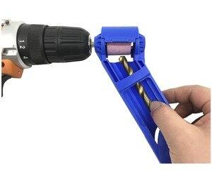 Image 2 - Milda 2 12.5mm Drill Bit Sharpener Corundum Grinding Wheel Portable Powered Tool for Drill Polishing Wheel Drill Bit Sharpener