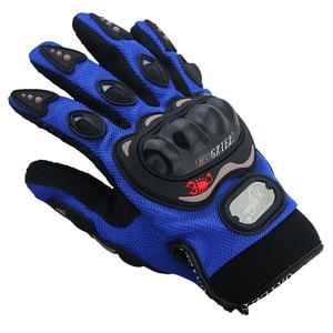 Image 1 - Breathable Gloves Leather Gloves Motorcycle Gloves Driving Road Bike Protective Gloves for Men