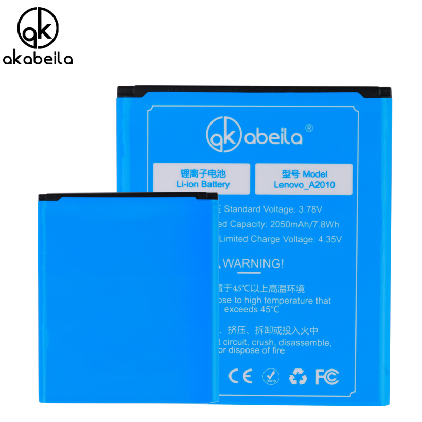 AKABEILA BL253 Mobile Phone Battery For Lenovo A2010 A 2010 A2580 A2860 Rechargeable Replacement Li-on Batteries Battery BL 253