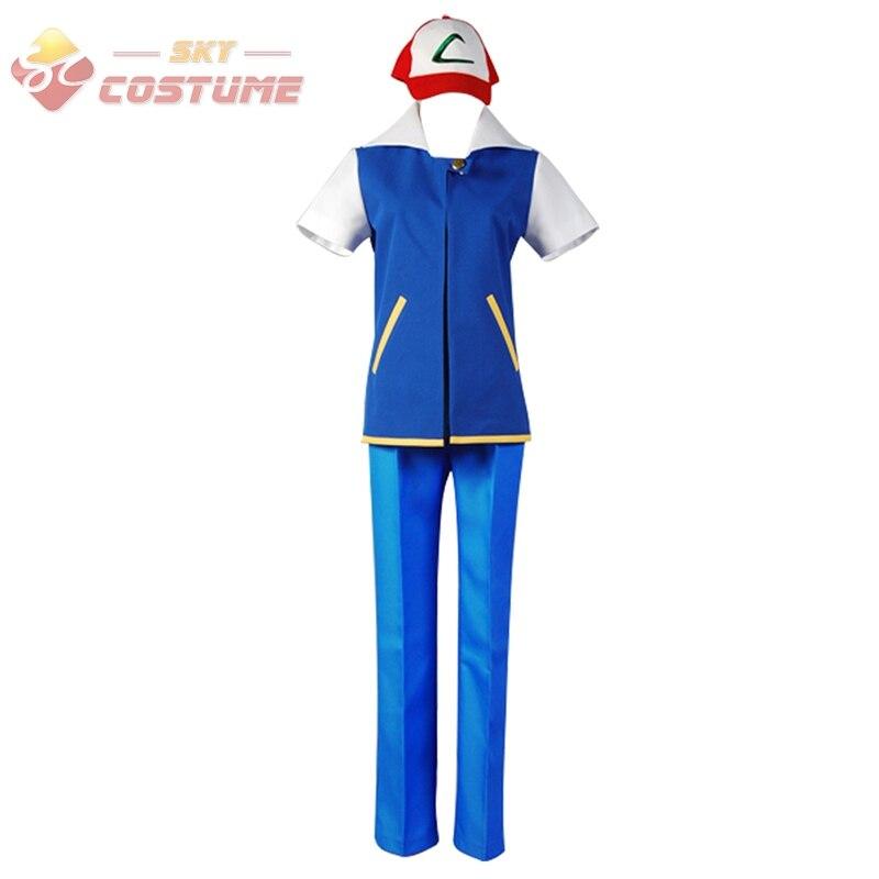 Pokemon Ash Ketchum Cosplay traje verano estilo conjunto completo para  adultos y niños 1c4b93bc3067