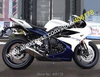 Лидер продаж, для Triumph Daytona 675 обвес 2013 2014 2015 Daytona675 13 14 15 белого и синего цвета тела Aftermarket ABS мотоциклов обтекателя