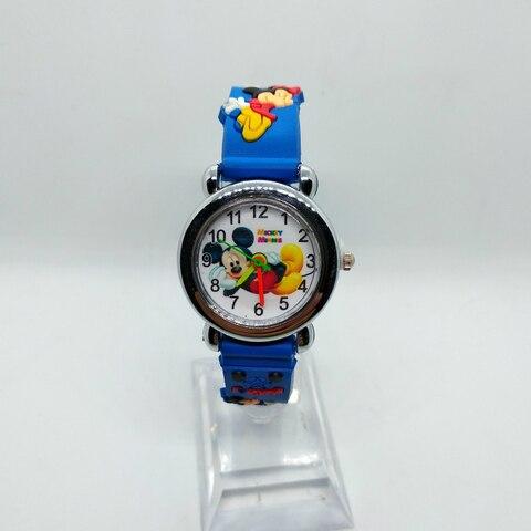 4D Cartoon Mickey Girl Boy Student Watch Children Silicone Quartz Wristwatches Kids Watches Birthday Gift Clock Reloj Mujer Six Islamabad