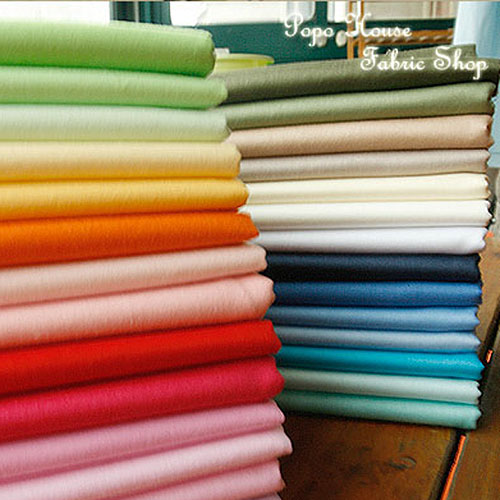 Envío gratis 160 cm X 50 cm Color sólido 43 colores Tela de algodón, bricolaje Tela hecha a mano para Patchwork Doll Cloth Home Craft Textiles