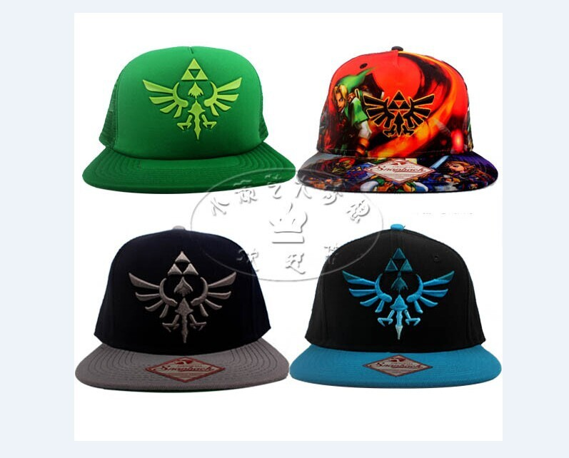 Nintendo Legends of ZELDA cap hat TRIFORCE Embroidered Snapback Baseball  CAP  HAT Navy 2a2ec1d30df
