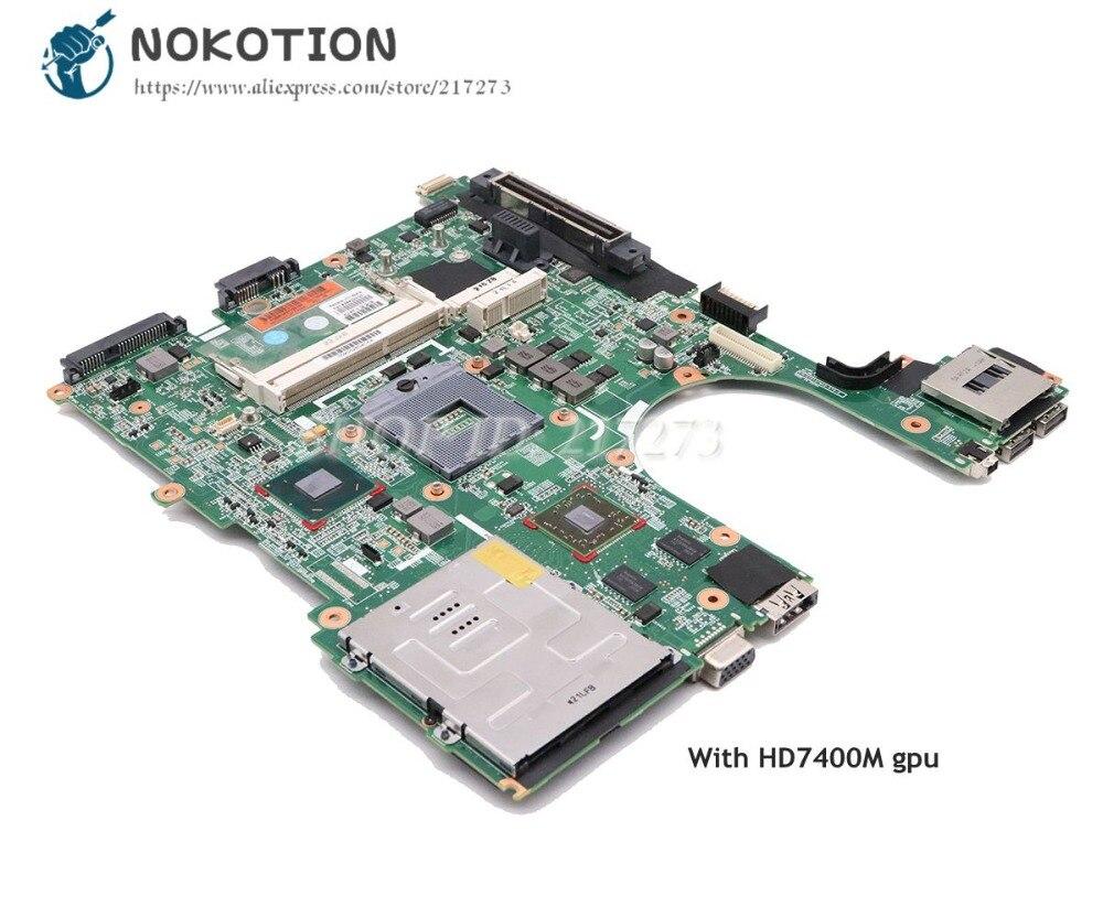 NOKOTION For HP Elitebook 8560P Laptop Motherboard QM67 DDR3 HD7400M graphics 684323-001 Main Board