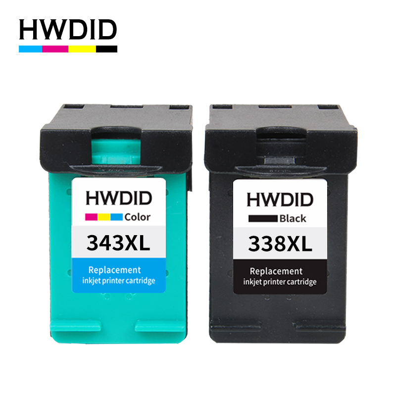 HWDID 338 343 XL Remanufactured Ink Cartridge Replacement for HP 338 343 for HP Deskjet 5740 6520 6540 6840 Photosmart 8150 2pcs set 60xl refilled ink cartridge replacement for hp 60 xl for deskjet d2530 d2545 f2430 f4224 f4440 f4480 envy c4650 c4680
