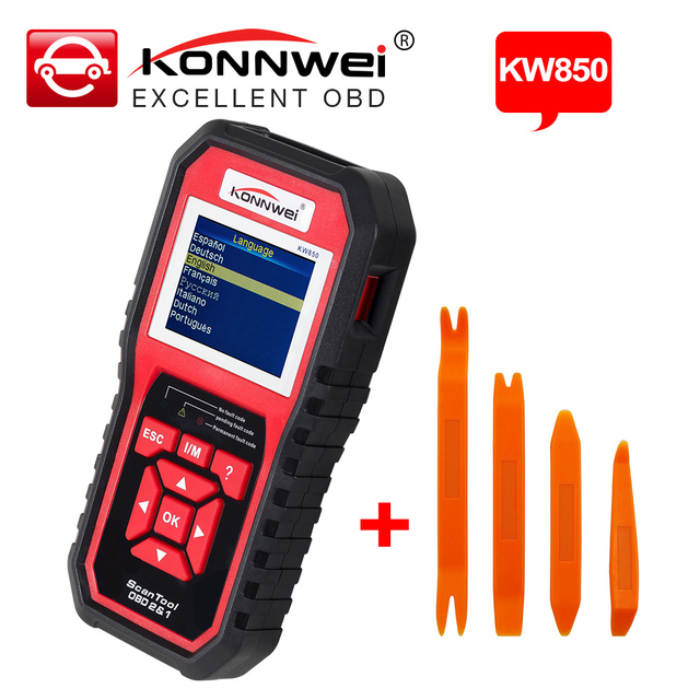 KONNWEI KW850 Multi-languages Full OBD2 Function Auto Diagnostic Tool OBDII Automotive Scanner Better Than AL519 CR5001 NT301