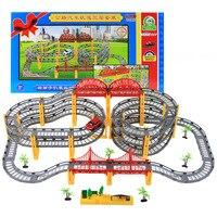 W Magazynie Muzyka Thomas utwór utwór pociąg zestaw elektryczny z kolejka samochodzik dla dzieci zabawki tor Dla dzieci Boże Narodzenie prezent