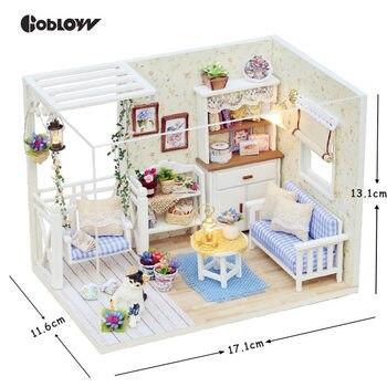 Regalo Madera Dropshipping Para Diy Miniaturas Dollhouse Nuevo De Juguetes Muñeca Año Muebles Casa En Miniatura Muñecas Los pMzVqSUjLG