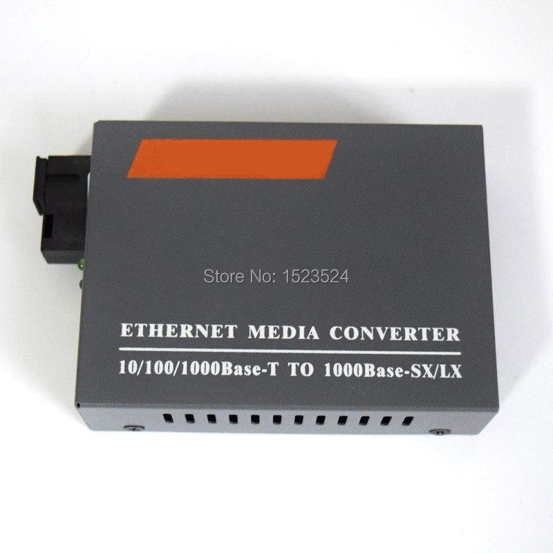 O envio gratuito de HTB-GS-03 gigabit fibra óptica conversor mídia 1000 mbps único modo duplex sc porto 20 km fonte alimentação externa