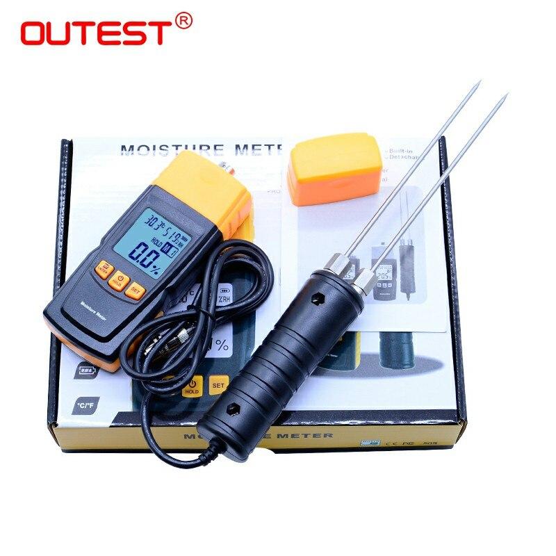 Testeur d'humidité de sonde Portable GM620 numérique LCD affichage bois humidimètre 2 ~ 70% détecteur d'humidité de bois