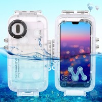 Haweel for huawei p20 40m/130ft Professional Waterproof Diving Housing Photo Video Taking Underwater Cover Case For Huawei P20