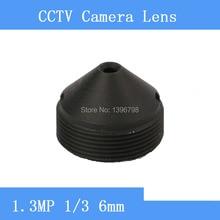 surveillance infrared night vision camera 1.3MP pinhole lens 6mm F2.0 M12 thread CCTV lens