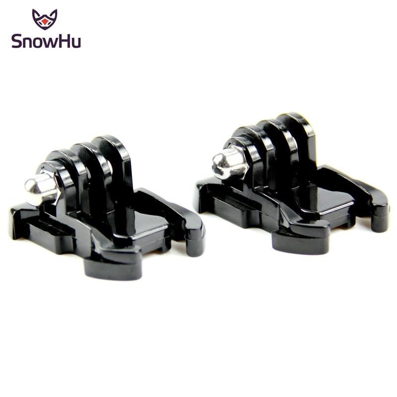 SnowHu 2 Pcs Camera Quick Pull Activity Base Mount For Go Pro Hero 8 7 6 5 4  SJCAM Yi 4K Kits Case Strap Mount Accessory GP06