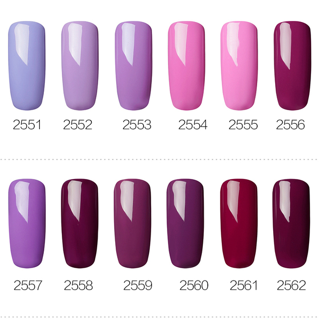 ROSALIND Gel 1 s 7 ml Gel vernis à ongles Violet Couleurs Soak Off UV LED Glitter Nail Art Semi Permanent gel laque amorce pour ongles 3