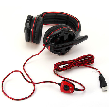 SADES SA903 7.1 Surround Sound USB PC Stereo Gaming Headset with Microphone Volume-Control LED light 3