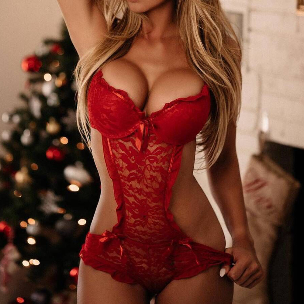 Women Lingerie Lace Teddy Features Plunging Eyelash And Snaps Crotch Ropa Interior Mujer Sexy Erotica Sexy Underwear