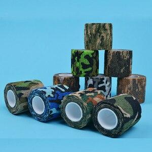 Image 4 - 4.5 センチメートル * 5 メートル狩猟テープ迷彩ステルスキャンプハント撮影ツールシリーズの防水不織布テープ混合粘着迷彩タップ